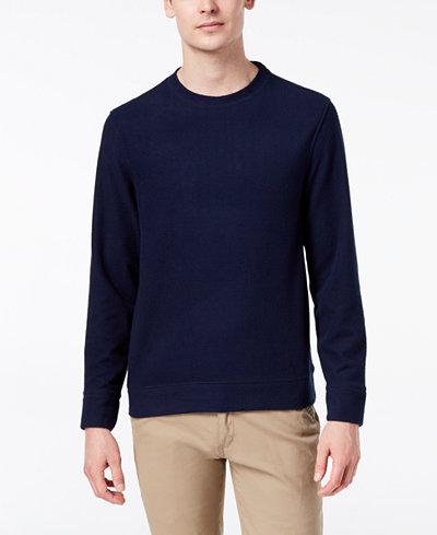 Club Room Men's Piqué Fleece Sweatshirt, Created for Macy's