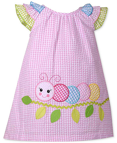 Bonnie Baby Ruffle-Sleeve Check-Print Dress, Baby Girls