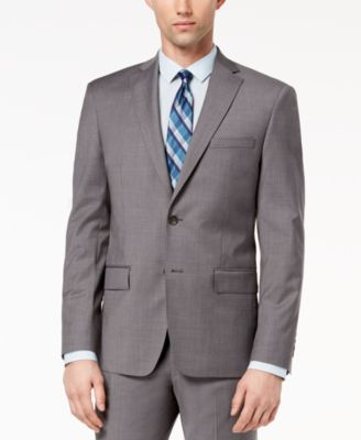 Men's Modern-Fit Stretch Neat Suit Jacket
