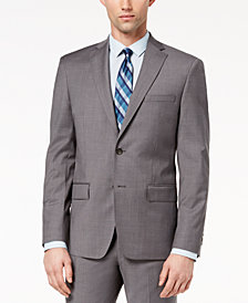 DKNY Men's Modern-Fit Stretch Neat Suit Jacket