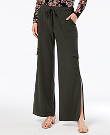 I.N.C. Petite Wide-Leg Cargo Pants, Created for Macy's