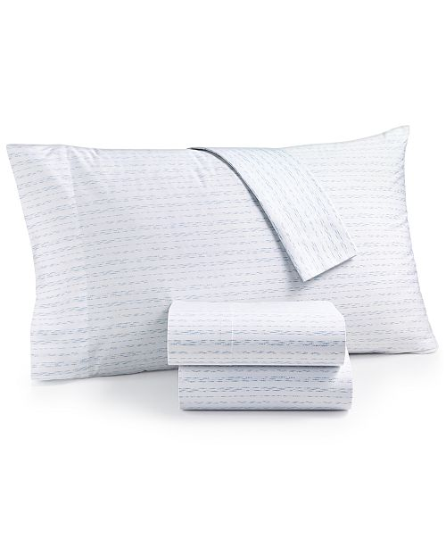 Martha Stewart Collection  CLOSEOUT! Organic Printed Pillowcase Pair, 300 Thread Count GOTS Certified, Created for Macy's