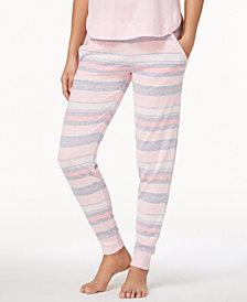 Ande Whisperluxe Ribbed-Trim Jogger Pajama Pants