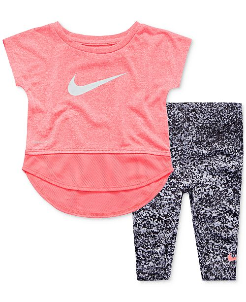 ccb52ce33889 Nike 2-Pc. Dri-FIT Tunic   Leggings Set