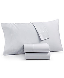 Martha Stewart Collection Organic 4-Pc. Full Sheet Set, 300 Thread Count GOTS Certified, Created for Macy's
