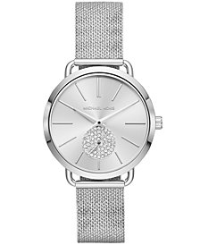 Michael Kors Women's Portia Stainless Steel Mesh Bracelet Watch 37mm