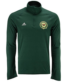 adidas Men's Minnesota Wild Left Defenseman Quarter-Zip Pullover