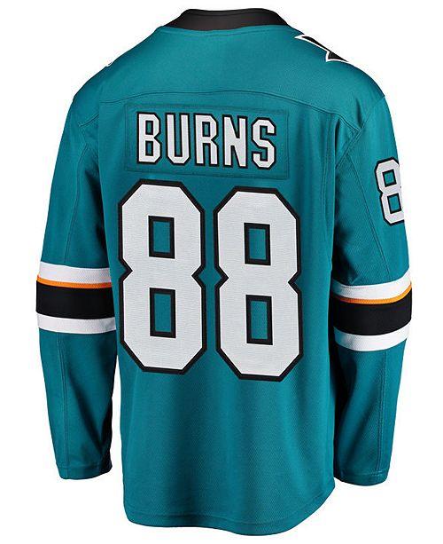 Fanatics Men's Brent Burns San Jose Sharks Breakaway Player Jersey