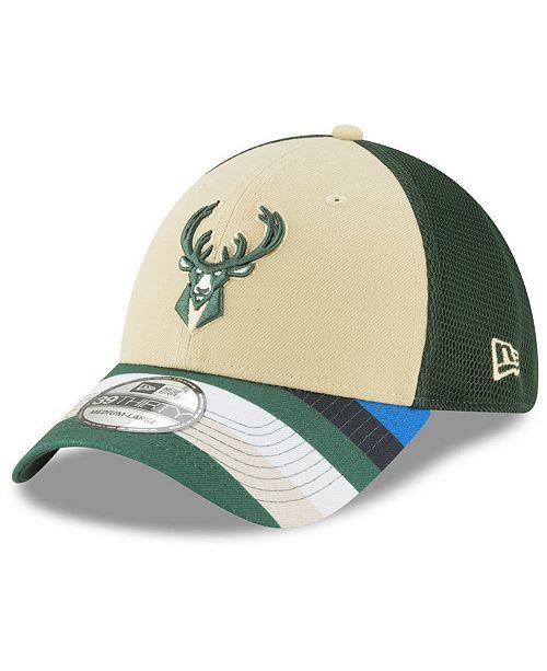 huge discount 7de84 b900a New Era Milwaukee Bucks City Series 39THIRTY Cap ...