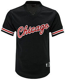 Mitchell & Ness Men's Chicago Bulls Wordmark Mesh V-Neck Jersey