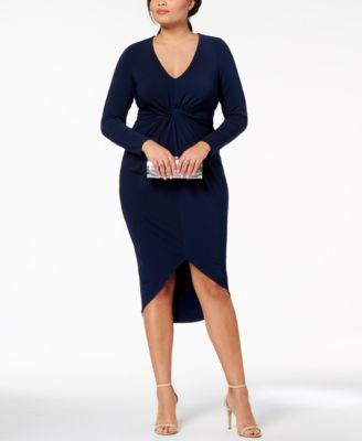 Plus Size Long Bodycon Dress