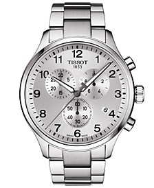 Men's Swiss Chronograph Chrono XL Classic T-Sport Stainless Steel Bracelet Watch 45mm