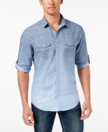 I.N.C. Men's Cotton Shirt, Created for Macy's