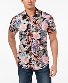 I.N.C. Men's Snap-Front Floral Shirt, Created for Macy's