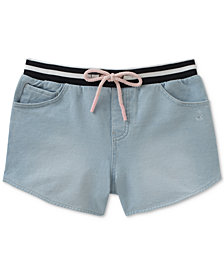 Calvin Klein Denim-Look Knit Shorts, Big Girls