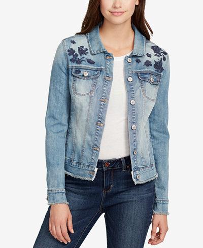 Vintage America Lena Embroidered Denim Jacket