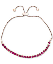 EFFY® Certified Ruby Slider Bracelet (2 ct. t.w.) in Sterling Silver