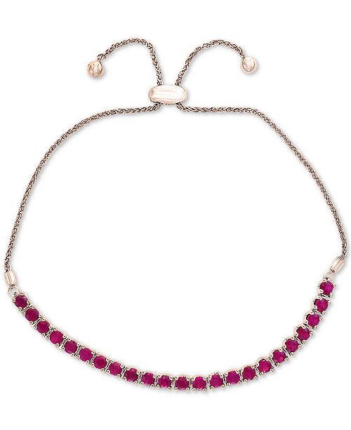 EFFY Collection EFFY® Certified Ruby Slider Bracelet (2 ct. t.w.) in Sterling Silver
