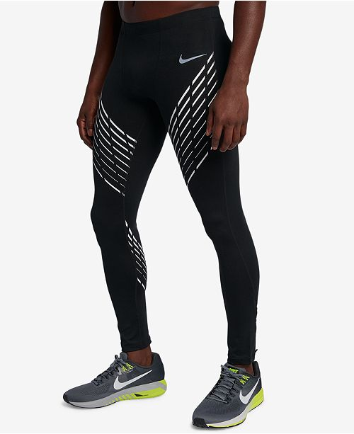 7c211bcc404fa Nike Men's Power Dri-FIT Printed Running Tights & Reviews - All ...