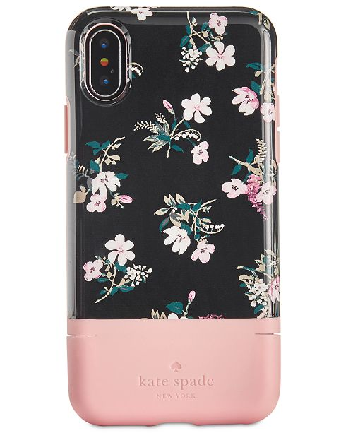 top fashion fa519 18f63 kate spade new york Flora iPhone X Credit Card Case & Reviews ...