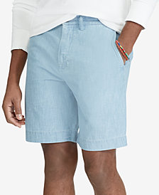 "Polo Ralph Lauren Men's Classic-Fit 9-1/4"" Chambray Shorts"