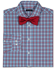Tommy Hilfiger Sunny Plaid Stretch Shirt & Bowtie, Big Boys