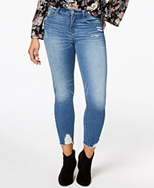 American Rag Juniors' Ripped High-Rise Skinny Jeans, Created for Macy's