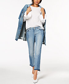 DL1961 Mara Ankle Mid Rise Instasculpt Straight Two-Toned Jeans