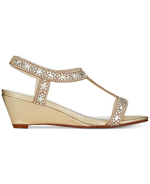 31edd41a3fe9 Caparros Lala Embellished Evening Wedge Sandals   Reviews - Sandals ...