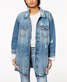 STS Blue Oversize Long Boyfriend Dolman Sleeve Jacket