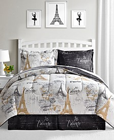 Paris Gold 8-Pc. Reversible Comforter Sets