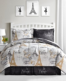 Fairfield Square Collection Paris Gold 8-Pc. Reversible Comforter Sets