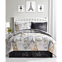 Fairfield Square Collection Paris Gold 8-Piece Reversible Comforter Sets
