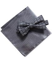 6ead69191ac0 Alfani Men's Geometric Pre-Tied Bow Tie & Solid Pocket Square Set, Created  for