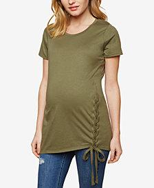 Motherhood Maternity Lace-Up T-Shirt