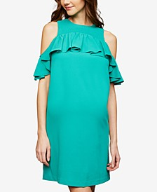 Maternity Cold-Shoulder Dress