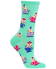 Hot Sox Women's Pigs in Teacups Socks