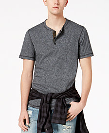 American Rag Men's Marled Henley, Created for Macy's