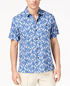 Tommy Bahama Men's Deep Water Diamond-Print Shirt