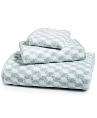 Cube Turkish Cotton Fashion Bath Towel, Created for Macy's