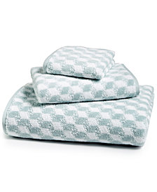 Hotel Collection Cube Turkish Cotton Fashion Bath Towel, Created for Macy's