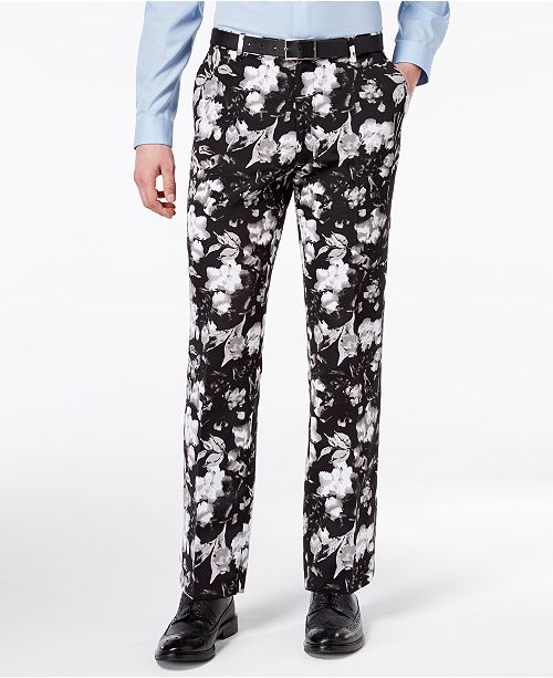 4b5c0c4b134 ... INC International Concepts I.N.C. Men s Slim-Fit Ottoman Floral-Print  Pants