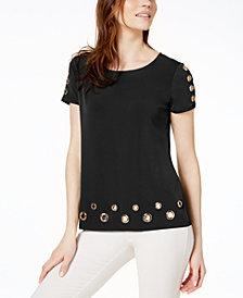 I.N.C. Petite Embellished T-Shirt, Created for Macy's