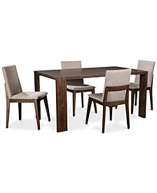 Closeout! Crosby Dining 5-Pc. Set (Table & 4 Upholstered Side Chairs), Created for Macy's