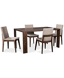 Crosby Dining Furniture, 5-Pc. Set (Table & 4 Upholstered Side Chairs), Created for Macy's