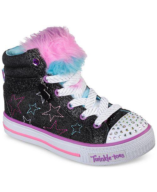 ... Skechers Little Girls  Twinkle Toes  Shuffles - U-Turn Mid Light-Up ... f2be4505cfcd