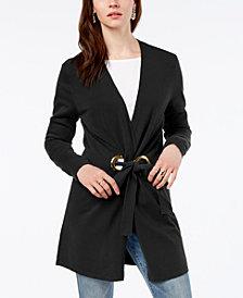 I.N.C. Long-Sleeve Grommet-Detail Cardigan, Created for Macy's