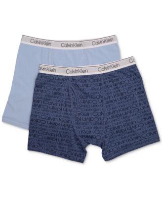 9a47a37a549c Calvin Klein 2-Pk. Cotton Boxer Briefs, Little & Big Boys & Reviews -  Underwear & Socks - Kids - Macy's