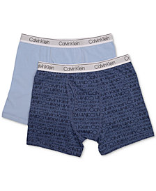 Calvin Klein 2-Pk. Cotton Boxer Briefs, Toddler, Little & Big Boys