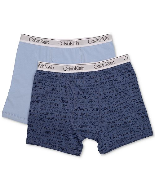 Calvin Klein 2 Pk Cotton Boxer Briefs Little Amp Big Boys